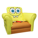 SpongeBob Deluxe Rocking Chair, Kids Chairs | Personalized Kids Chairs | Comfy | ABaby.com