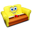 SpongeBob Deluxe Rocking Sofa, Kids Upholstered Chairs | Personalized Upholstered Chairs | ABaby.com