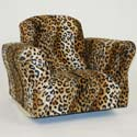 Leopard Print Standard Rocker, Kids Rocking Chairs | Kids Rocker | Kids Chairs | ABaby.com