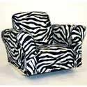 Standard Rocker Zebra Print, Kids Chairs | Personalized Kids Chairs | Comfy | ABaby.com