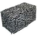 Zebra Tufted Toy Box, Kids Storage Bins | Personalized Kids Toy Boxes | ABaby.com