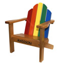 Personalized Multi Colored Adirondack Chair, Kids Chairs | Personalized Kids Chairs | Comfy | ABaby.com