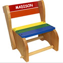 Personalized Classic Step Stool Chair, Personalized Kids Step Stools | Step Stools for Toddlers | ABaby.com