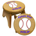 Future Baseball Star Stool, Sports Themed Nursery | Boys Sports Bedding | ABaby.com