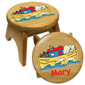 Personalized Noah's Ark Stool, Personalized Kids Step Stools | Step Stools for Toddlers | ABaby.com
