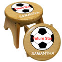 Personalized Future Soccer Star Stool, Sports Themed Nursery | Boys Sports Bedding | ABaby.com