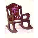 Personalized Ladybug Wooden Rocking Chair, Frogs And Bugs Themed Toys | Kids Toys | ABaby.com