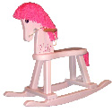 Personalized Pinky Rocking Horse