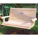 Monogrammed Outdoor Wooden Family Swing