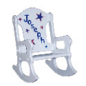 Red, White and Blue Stars Rocking Chair, Kids Rocking Chairs | Kids Rocker | Kids Chairs | ABaby.com