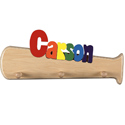 Bat Shaped Personalized Coat Rack, Peg Shelves | Kids Nursery Wall Shelves | ABaby.com