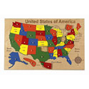 USA Map Peg Puzzle, Kids Learning Toys  | Educational Toys For Toddlers | ABaby.com