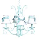 4 Arm Baby Blue Harp Chandelier, Chandeliers for Kids Rooms & Nursery | Mini Chandelier | aBaby.com
