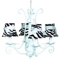 4 Arm Harp Zebra Chandelier, Nursery Lighting | Kids Floor Lamps | ABaby.com