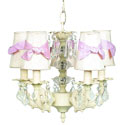 5 Arm Bow Shade Chandelier, Nursery Lighting | Kids Floor Lamps | ABaby.com