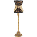 Antique Gold Leopard Lamp,