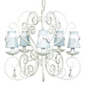 White Carriage 5 Arm Chandelier, Nursery Lighting | Kids Floor Lamps | ABaby.com