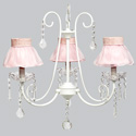 Ruffled Skirt 3 Arm Bliss Chandelier, Nursery Lighting | Kids Floor Lamps | ABaby.com