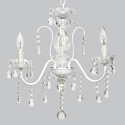 3 Arm Jewel Glass Chandelier, Nursery Chandeliers | Baby Chandeliers | ABaby.com