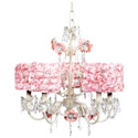 Rose Garden 5 Arm Chandelier, Nursery Lighting | Kids Floor Lamps | ABaby.com