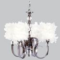 Feathered 4 Arm Hampton Chandelier, Nursery Lighting | Kids Floor Lamps | ABaby.com