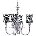Zebra Hampton 4 Arm Chandelier, Nursery Lighting | Kids Floor Lamps | ABaby.com