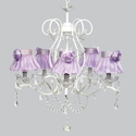 Rose Ruffled 5 Arm Grace Chandelier