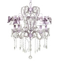 Lavender Sash Whimsical Chandelier, Nursery Lighting | Kids Floor Lamps | ABaby.com