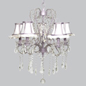White & Lavender Ruffled Whimsical Chandelier, Nursery Lighting | Kids Floor Lamps | ABaby.com