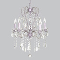 5 Arm Lavender Whimsical Beaded Chandelier , Nursery Lighting | Kids Floor Lamps | ABaby.com