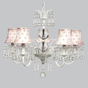 Pink Pearl Dot Wistful Chandelier, Nursery Lighting | Kids Floor Lamps | ABaby.com