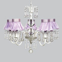 Ballerina Tutu 5 Arm Wistful Chandelier, Nursery Lighting | Kids Floor Lamps | ABaby.com