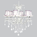 White & Lavender Ruffled Glitz Chandelier, Nursery Lighting | Kids Floor Lamps | ABaby.com