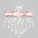 Ring of Roses 6 Arm Glitz Chandelier