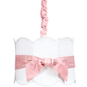 Pink Sash Double Scalloped Light Pendant