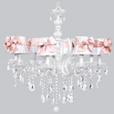 Pink Sash 8 Arm Pageant Chandelier, Nursery Lighting | Kids Floor Lamps | ABaby.com