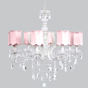 Pink Scallop 8 Arm Pageant Chandelier, Nursery Lighting | Kids Floor Lamps | ABaby.com