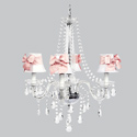 Pink Bow 4 Arm Middleton Chandelier, Nursery Lighting | Kids Floor Lamps | ABaby.com