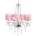 Rose Garden 4 Arm Middleton Chandelier, Nursery Lighting | Kids Floor Lamps | ABaby.com