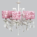 Rose Garden Elegance 5 Arm Chandelier, Nursery Lighting | Kids Floor Lamps | ABaby.com