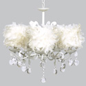 White Feather Elegance Chandelier, Nursery Lighting | Kids Floor Lamps | ABaby.com