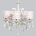 Pom Pom 5 Arm Elegance Chandelier, Nursery Lighting | Kids Floor Lamps | ABaby.com