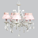 Ruffled Skirt 5 Arm Elegance Chandelier, Nursery Lighting | Kids Floor Lamps | ABaby.com