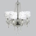 Rose Garden 6 Arm Middleton Chandelier, Nursery Lighting | Kids Floor Lamps | ABaby.com