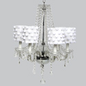 Pom Pom 6 Arm Middleton Chandelier, Nursery Lighting | Kids Floor Lamps | ABaby.com