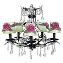 Cinderella Pink Rose Chandelier , Nursery Lighting | Kids Floor Lamps | ABaby.com