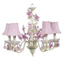 Crystal Flower 5 Arm Chandelier, Nursery Lighting | Kids Floor Lamps | ABaby.com