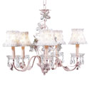 Crystal Flower Pink Chandelier, Nursery Lighting | Kids Floor Lamps | ABaby.com