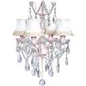 Crystal Glass 4 Light Chandelier, Nursery Lighting | Kids Floor Lamps | ABaby.com