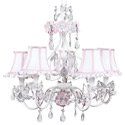 White 'n Pink  Flower Garden Chandelier, Nursery Lighting | Kids Floor Lamps | ABaby.com